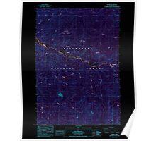 USGS Topo Map Oregon Idanha 280273 1985 24000 Inverted Poster