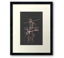 Holland Tunnel Guitarist Framed Print