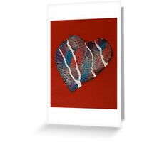 Torn Heart  Greeting Card