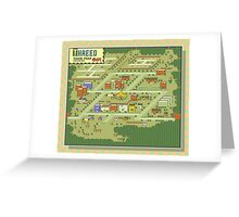 Threed Town Map - Earthbound/Mother 2 Greeting Card