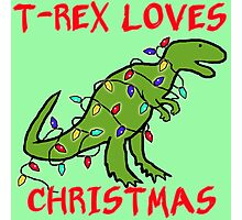 T-REX LOVES CHRISTMAS Photographic Print