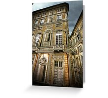 Trompe l'oeil building Greeting Card