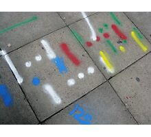 Pavement graffiti Photographic Print