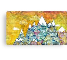 Maps and Mountains Canvas Print