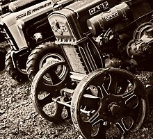 Antique Tractor Line Up by Benjamin Sloma