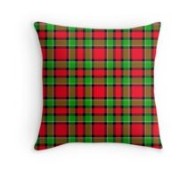 Christmas Plaid or Holiday Tartan Pattern Throw Pillow
