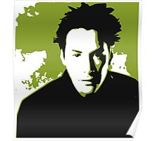 Keanu Reeves in the Matrix, Green Color Poster