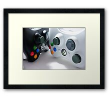 XBOX Controllers Framed Print