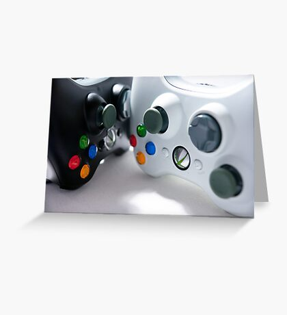 XBOX Controllers Greeting Card