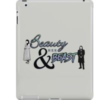 Beauty and her Beast. iPad Case/Skin
