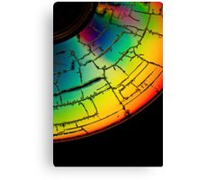 Colorful cracked disk Canvas Print