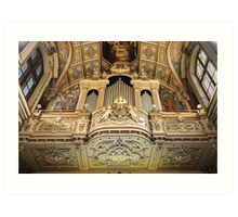 Organ --- 'St Mary of Jesus Church' Valletta Malta Art Print