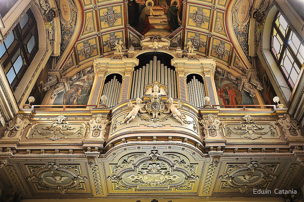 Organ --- 'St Mary of Jesus Church' Valletta Malta by Edwin  Catania