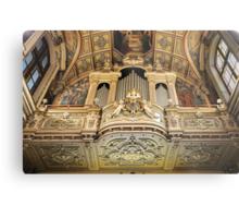 Organ --- 'St Mary of Jesus Church' Valletta Malta Metal Print