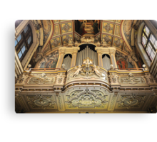 Organ --- 'St Mary of Jesus Church' Valletta Malta Canvas Print