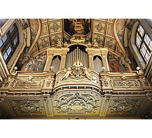 Organ --- 'St Mary of Jesus Church' Valletta Malta Photographic Print