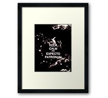 Keep Calm and Expecto Patronum - Glowing Stag Framed Print