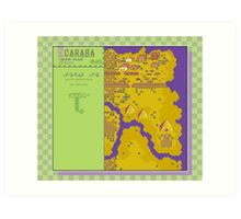 Scaraba Town Map - Earthbound/Mother 2 Art Print