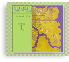 Scaraba Town Map - Earthbound/Mother 2 Metal Print