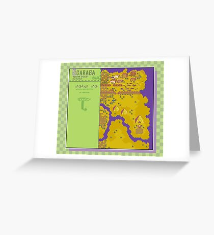 Scaraba Town Map - Earthbound/Mother 2 Greeting Card