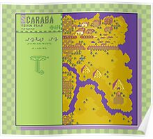 Scaraba Town Map - Earthbound/Mother 2 Poster