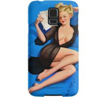 Vintage pin up - Am I too good to be true? Samsung Galaxy Case/Skin