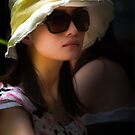 Girl in Glasses, Brunswick Street Markets, Brisbane. by David Mellor