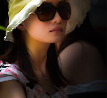Girl in Glasses, Brunswick Street Markets, Brisbane. by David Mellor