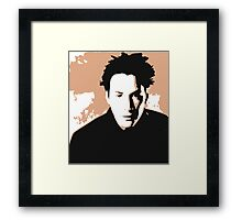 Keanu Reeves in the Matrix, Brown Color Design Framed Print