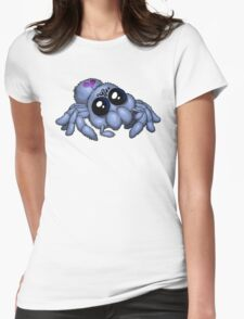 Cute Blue Spider Womens Fitted T-Shirt