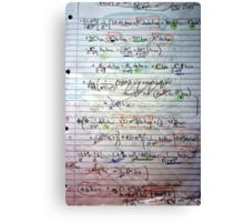 Klein-Gordon Equation Calculations In De Sitter Spacetime Canvas Print