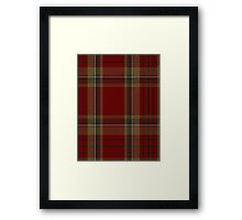 00358 Tyrone County District Tartan  Framed Print