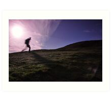 Morning Hill Walker Art Print