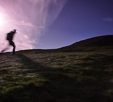 Morning Hill Walker by nikonpicon
