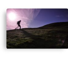 Morning Hill Walker Canvas Print
