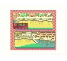 Summers Town Map - Earthbound/Mother 2 Art Print