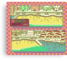 Summers Town Map - Earthbound/Mother 2 Canvas Print