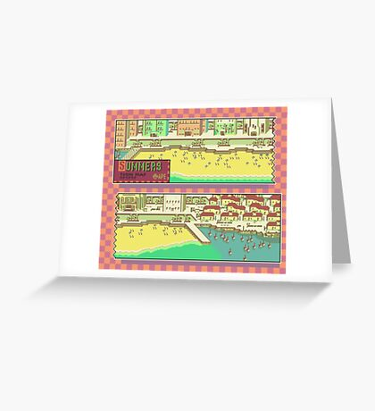Summers Town Map - Earthbound/Mother 2 Greeting Card