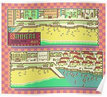 Summers Town Map - Earthbound/Mother 2 Poster