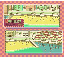 Summers Town Map - Earthbound/Mother 2 Photographic Print
