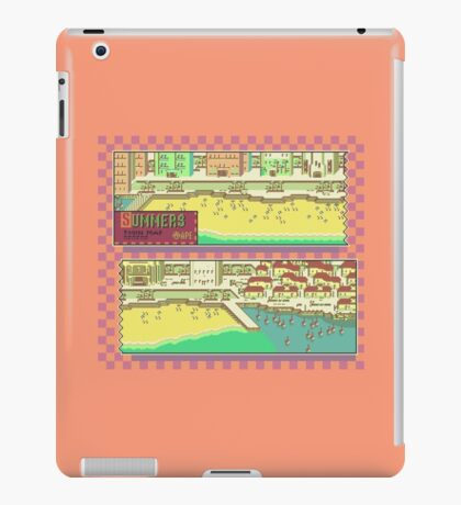 Summers Town Map - Earthbound/Mother 2 iPad Case/Skin