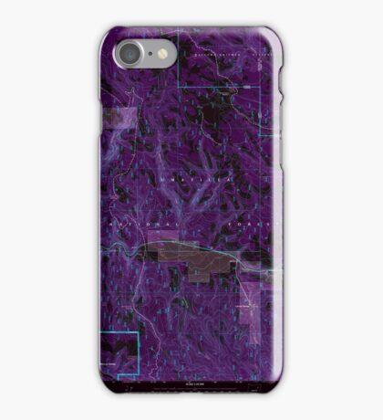 USGS Topo Map Oregon Lehman Springs 280503 1995 24000 Inverted iPhone Case/Skin