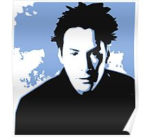 Keanu Reeves in the Matrix, Blue Tone Poster