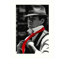 Red Tie Art Print