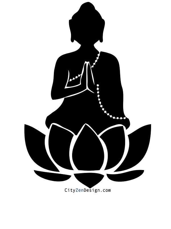 Quot Buddha On A Lotus Quot Stickers By Cityzendesign Redbubble