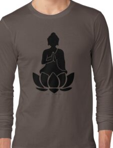 Buddha on a Lotus Long Sleeve T-Shirt