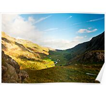 The valley at Llyn Ogwen Poster