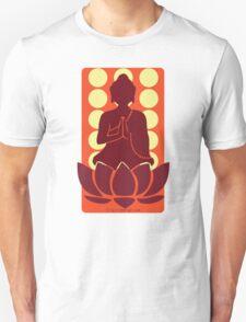 Meditating Buddha - red Unisex T-Shirt
