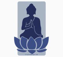 Meditating Buddha - blue by CityZenDesign