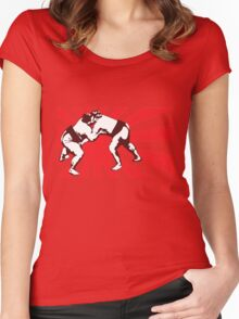 sumo Match - red2 Women's Fitted Scoop T-Shirt